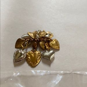 Gold and Silver Heart Brooch